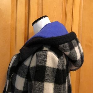 Canvasbacks Jackets & Coats - Canvasbacks Wool Coat Jacket Black and White Check